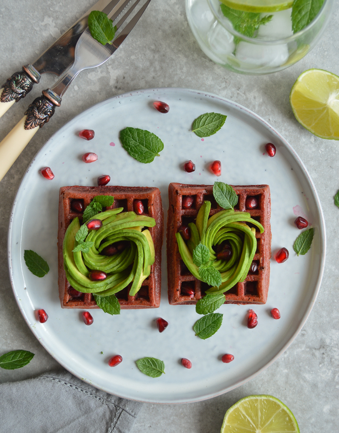 Beetroot waffles #glutenfree #dairyfree #waffles #beetroot via @fit.foodie.nutter