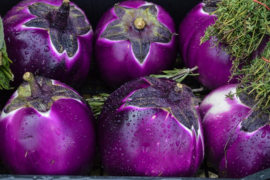 Sicilian aubergines, Broadway Deli, Cotswolds