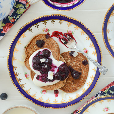 Vegan pancakes fit for royal party