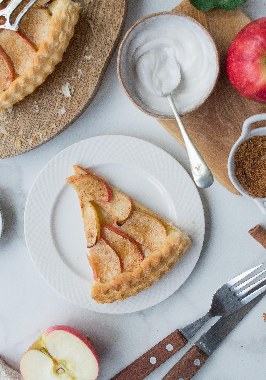 Apple tart slice