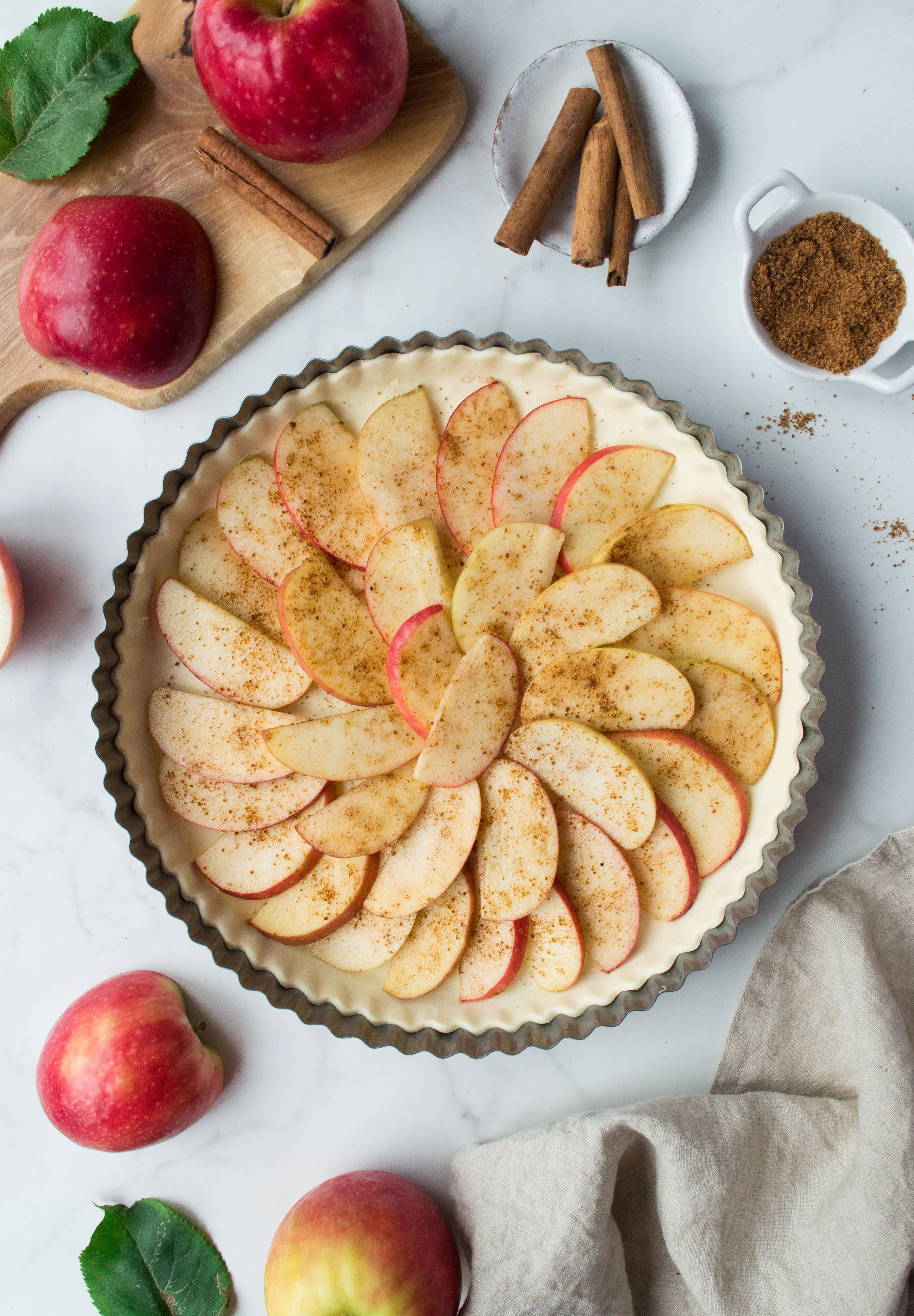 Apple tart before going to the oven