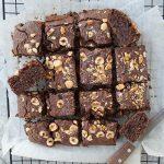 HEALTHIER VEGAN CHOCOLATE BROWNIES (GF, SUGAR FREE)