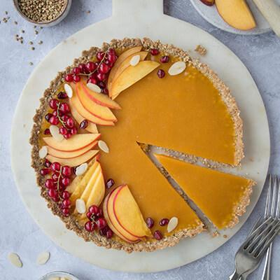 Nectarine & mango summer tart