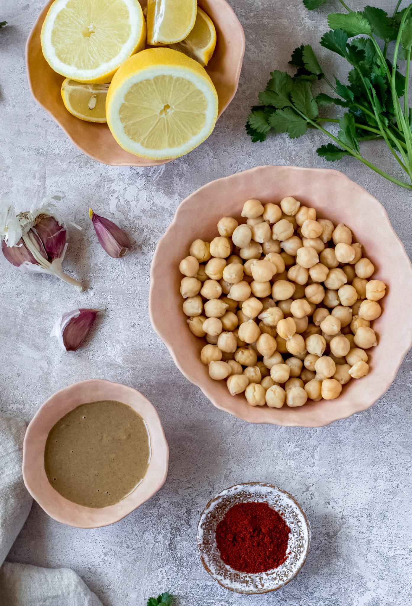 Smoked paprika hummus ingreients – Fit Foodie Nutter